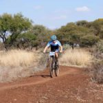 Pictured here is a rider on route to the finish at the Sondela MTB Classic.