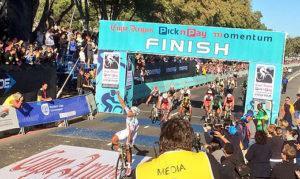 Nolan Hoffman of team Abantu wins the 2014 Cape Argus Pick n Pay Momentum Cycle Tour on March 9. Photo: Twitter / @danievdbergh