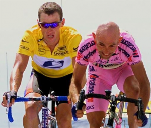 Lance Armstrong regretted giving the Ventoux stage to Marco Pantani. Photo: AFP Photo