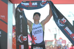 Delight for Nils Frommhold at tenth Ironman South Africa. Photo: www.ironmansouthafrica.com