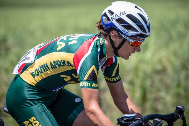 Ashleigh Moolman Pasio claimed the gold medal in the Elite Women Road Race of the African Continental Road Cycling Championships. Photo: craigdutton.com