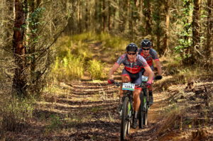 EAI's Johann Rabie (back) and Gawie Combrinck (front) believe the additional time they spent on the trails en route to victory in the recent Old Mutual joBerg2c stands them in good stead ahead of the upcoming 2015 Nedbank sani2c.