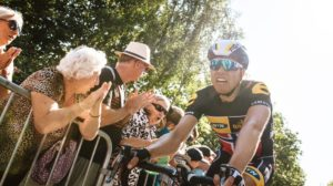 It was a tough day of racing for Team MTN-Qhubeka with only Serge Pauwels cracking the top 25 in the 13th stage of the 2015 Tour de France. Photo: Gruber Images