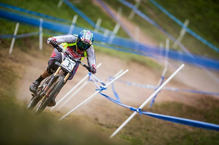 Greg Minnaar ready to race in the final round of the UCI DGI World Cup Final.