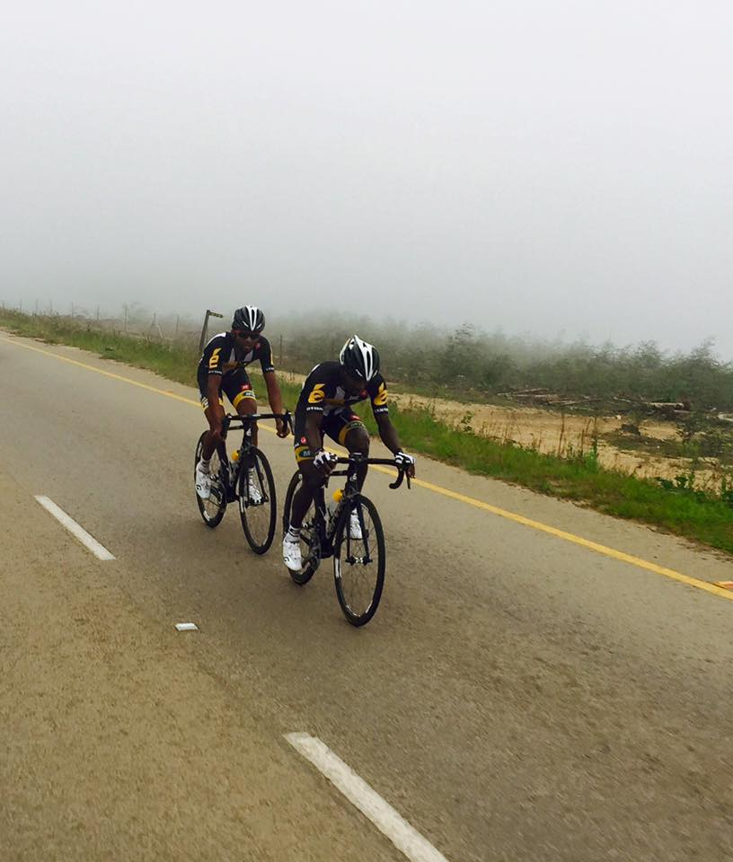 Metkel Eyob & Tesfome Okubamariam battled it out for the win at the MTB Khemani Road Classic in Swaziland this weekend. Photo: Supplied