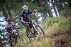 Michael Pretorius and Martin Fryer took first place on stage 1 of the Wines 2 Whales Adventure. Photo: Volume Photography
