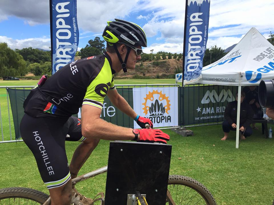 Dane Walsh winner of the 24 Hours of Oak Valley MTB Relay. Photo: www.facebook.com/bikehubza