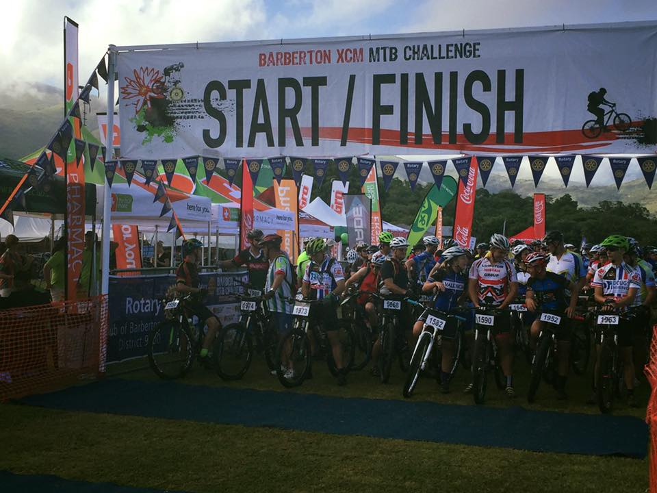 Riders ready to race at the Barberton XCM MTB Challenge in Mpumalanga yesterday. Photo facebook.com/barbertonxcm