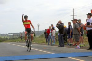 Team RoadCover's Gustav Basson won the 106km Rudy Project Berge en Dale cycling classic in Krugersdorp today. Photo: Rika Joubert