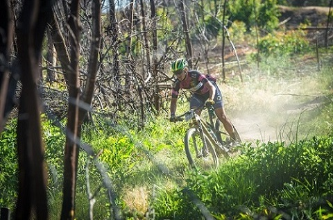 Robyn de Groot is delighted with the increased prize-money in the Wines2Whales MTB Race. Photo: Tobias Ginsberg