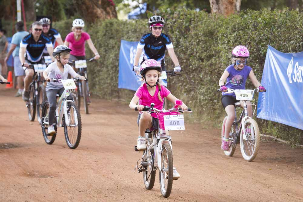 The Sanlam MTB Invitational will again promote the family connection when it takes place near Paarl in November. Photo: Supplied