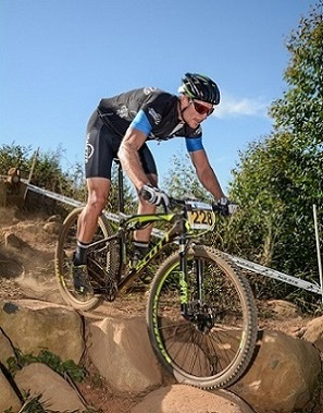 Participant Warren Price takes on the South African MTB XCO and DHI National Championships course. Photo: QuickPix