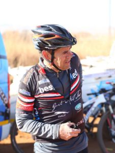 Rory Mapstone of Team Bestmed-ASG getting ready ahead of his 2015 Trans Baviaans masters' victory
