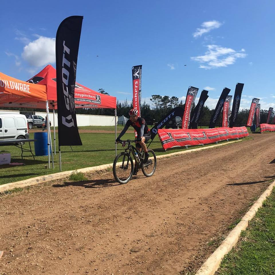 Niel Clark won the Dr Evil Classic in the Plett Winelands today. Photo: Facebook/@drevilclassic