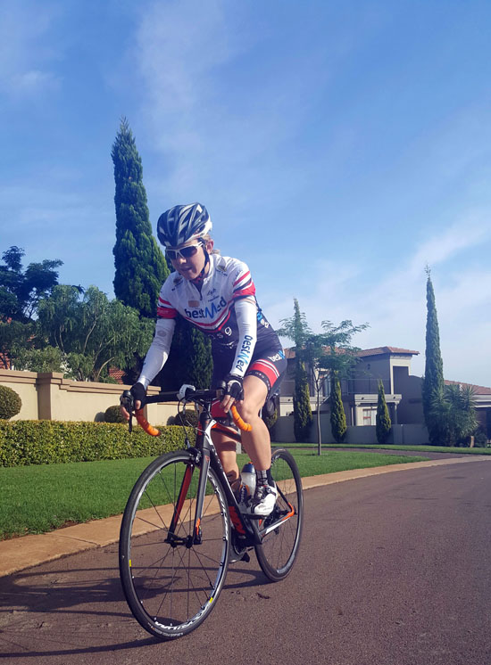 Andrea Steyn will be riding for Team Bestmed-ASG in the 947 Cycle Challenge on November 20. Photo: Supplied