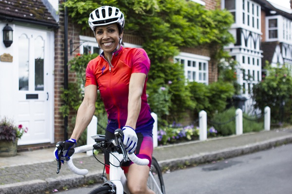 Britain's double Olympic gold medallist, Dame Kelly Holmes, is in training for the Bestmed Tour of Good Hope cycling race in South Africa next year. Photo: Supplied