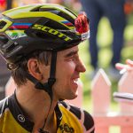 Nino Schurter won the elite men's cross country race at the UCI MTB World Cup.