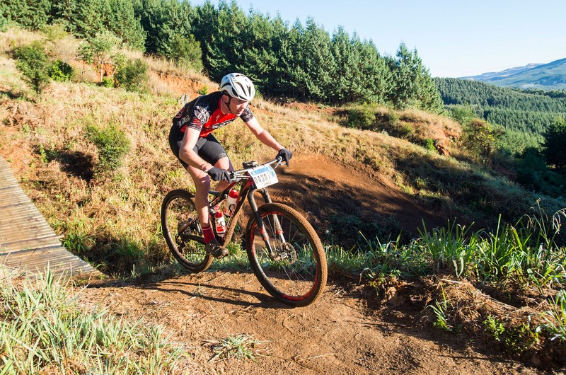 Julian Jessop in action at the Karkloof Classic Trail Festival.