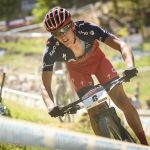 Alan Hatherly placed second in the UCI Downhill Mountain Bike World Cup U23 race.