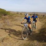 Yolande de Villiers and Henties De Villiers at the Fish River Sun MTB Challenge