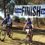Participants finishing the Henderson Valley MTB Race