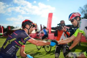 Brendon Davids and Philip Buys at the National MTB Series
