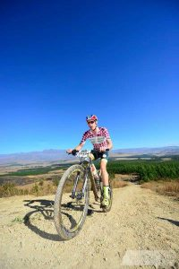 A participant in action at the National MTB Series