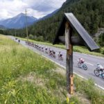 2017 Tour de Suisse cyclists in action.