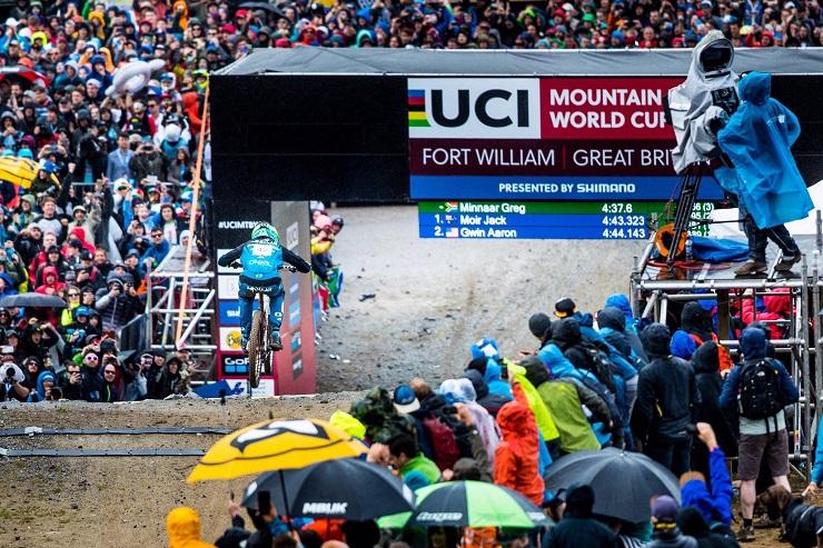 Greg Minnaar won the Lenzerheide Downhill World Cup.