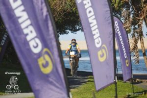 The run up to the finish at the Umngazi Pondo Pedal