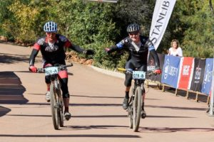 The winners of stage one at the Waterberg MTB Encounter.