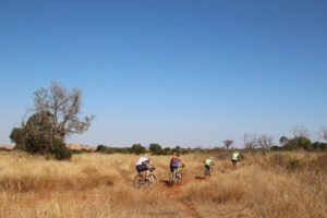 Four riders at the Waterberg MTb Encounter