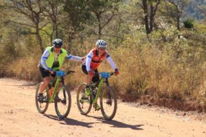 A team working together at the Waterberg MTB Encounter