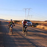 Riders in action during the 1000 Miler