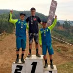 Christopher Philogene, Sam Bull and Jonathan Philogene at KZN MTB Provincial Enduro Champs.