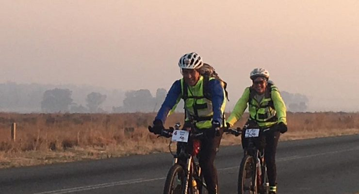Dave Bell and Dawn Bell in action on day one of the 1000 Miler.