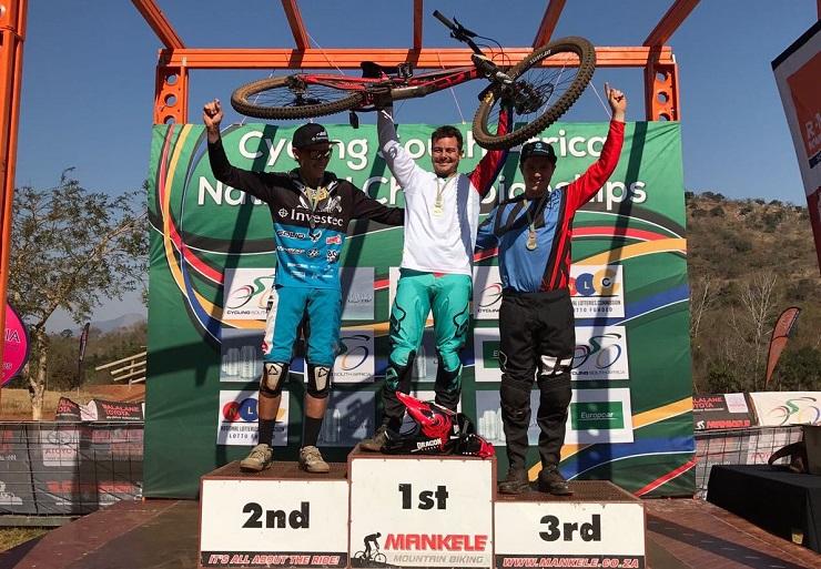 SA DHI MTB Championship podium