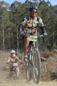 Participants in action at the Knysna Cycle Tour MTB Race