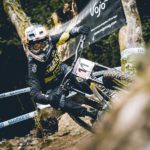 Myriam Nicole won women's downhill race at the fourth round of the UCI Downhill Mountain Bike World Cup at Vallnord in Adorra today.