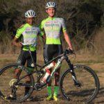 Phillimon Sebona and Julian Jessop in their new kit