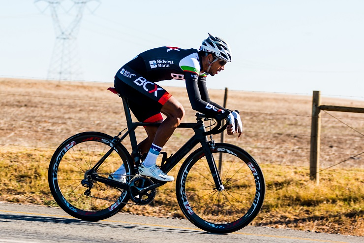Reynhardt Butler, pictured here during the 2017 Tour of Good Hope, is a South African professional road cyclist.