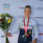 Robyn De Groot won the women's race at Knysna Cycle Tour.