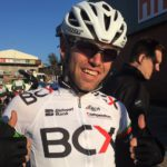 Steven van Heerden of Team BCX won the first stage of the 2017 Jock Classic in White River, Mpumalanga, today.