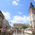 Riders in action at the Tour de Pologne