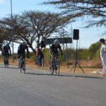 2017 Cycle4Cansa participants in action during the 103km road race.