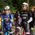 Trek-Segafredo's Edward Theuns (right) won stage four of the BinckBank Tour in Lanaken yesterday.