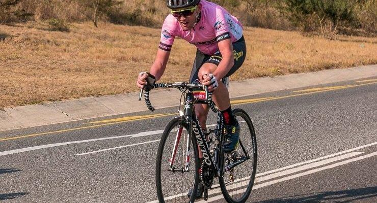 Willie Smit in pink at the Jock Classic
