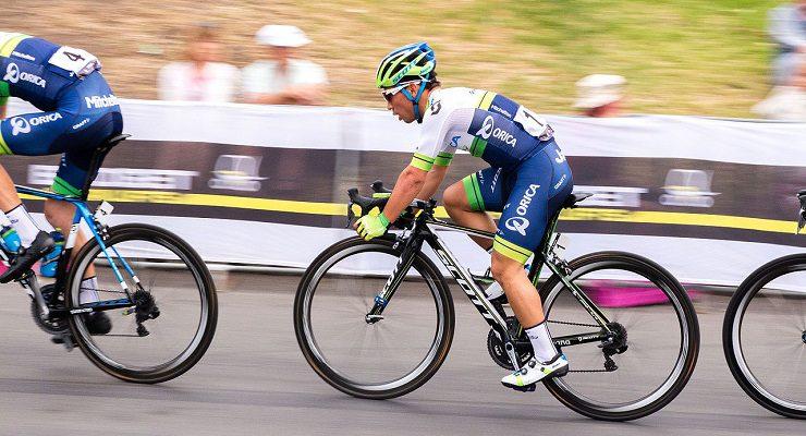 Orica-Scott's Caleb Ewan won stage six of the Tour of Britain today.