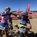 Candice Lill (left) and Samantha Sanders at the National MTB Series in Dullstroom