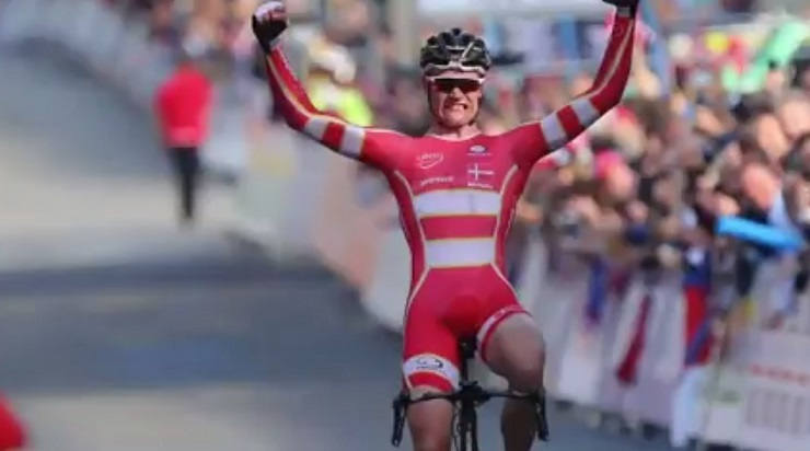 Julius Johansen won the men's junior road race at the UCI Road Wold Championship in Bergen, Norway, today.